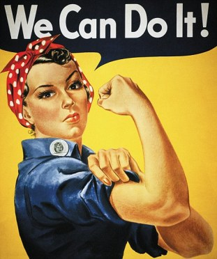 """We Can Do It!"" World War II War-Efforts Poster"